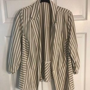 Jackets & Blazers - Cato! Cream and white striped blazer